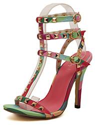 Belli Women's Shoes Multi-color Stiletto Heel 10-12cm Sandals (PU)