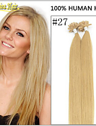 100% Natural Nail Tip Hair Extensions U Shape Hair Straight Hair Real 1g/s 100s/pack per lot Nail Tip Hair Wholesale