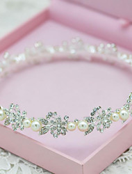 Elegant Rhinestones Titanium Wedding/Party Bridal Headpieces with Imitation Pearls