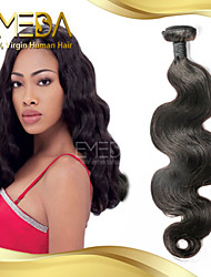crus, non transformés eurasienne vague de corps de cheveux vierges cheveu humain tisse 1pcs naturel noir 8 '' - 30 ''