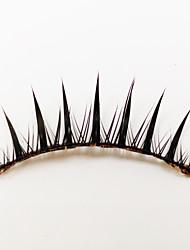 1 Ресницы Ресницы Ленточные накладные ресницы Глаза Машинное плетение Волокно Black Band 0.05mm 11mm