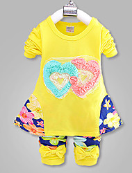 Girl's Cotton Blend Clothing Set , Spring/Fall Long Sleeve, New Children's Clothes,For 0-4 Years Old Baby, Fashion