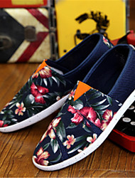 Men's Shoes Casual Fabric/Tulle Loafers Black/Blue/Red