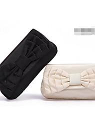 Bolso de Mano - Con Solapa - Seda - Blanco / Negro - Mujer