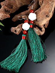 Roses with 925 Silver Hook National Romantic Su Natural Jade Earrings