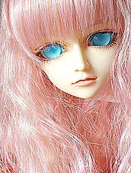 """Tita 1/3 8-9 """"dal msd pullip bjd sd luts souper dollfie poupée rose longue perruque"""