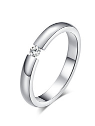 Wedding Band version of titanium steel white CZ Diamond rings titanium steel Ring ring wholesale R-023