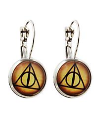 Vilam® Magic Circle Silver Earring For Women Glass Cabachon Bezel Brincos Perola Art Photo Earrings