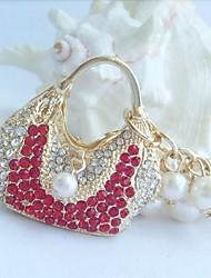 bolsa chaveiro bolsa encantadora com vermelho&cristais de strass claras