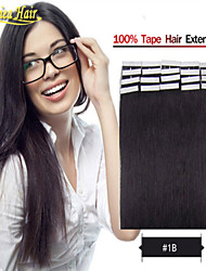 Best 100% Remy Human Hair Glue Skin Weft Tape In Human Hair Extensions Brazilian Straight Hair 100g