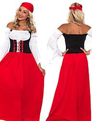 Costumes - Fête d'Octobre - Féminin - Halloween/Carnaval/Nouvel an/Fête d'Octobre - Robe/Chapeau
