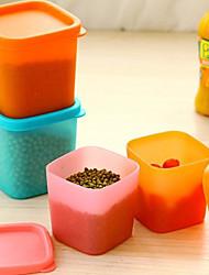 multifonction récipient en plastique de stockage boîte d'étanchéité alimentaire avec couvercle de couleur aléatoire