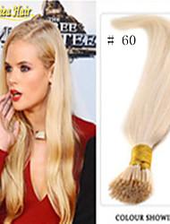 100% echte natürliche Person Haarkeratins Stockspitze i-Spitze Pro-verbundene Haarverlängerungen gerade 14colors 100pieces / lot