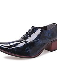 Oxfords ( Cuero Patentado , Azul/Dorado/Rojo/Plateado Zapatos de hombre