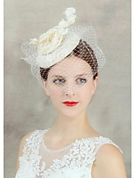 Women's Pearl Fabric Net Headpiece-Wedding Special Occasion Birdcage Veils 1 Piece