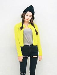 Women's Casual Long Sleeve Cardigan , Acrylic Medium