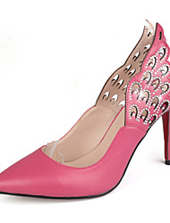 Women's Shoes Leather Stiletto Heel Pointed Toe Pumps With Sparkling Glitter Dress  More Colors Available