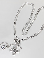 Women's Statement Necklaces Sterling Silver Cross Fashion Silver Jewelry