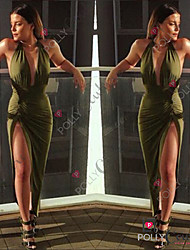 KuGo Women's Dresses , Chiffon Sexy/Casual KuGo