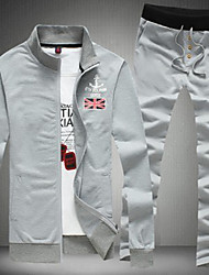 Dans Men's Suits , Cotton Blend Long Sleeve Casual