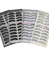 40Pairs Natural Long Thick Black False Eyelash Eyelashes Extensions Handmade Makeup Eyelashes Individual Lashes