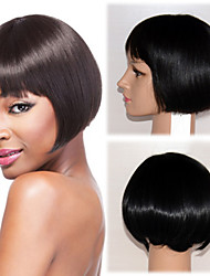 New Fashion Human Virgin Bob Hair Lace Front Wig For Women 10''-14'' Celebrity Hairstyle African American Wigs