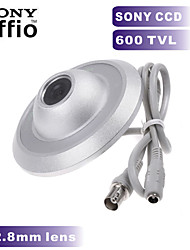 600TVL SONY CCD COLOR Mini Camera UFO Camera 2.8mm Wide Angle Indoor CCTV Security Camera for Metal Case