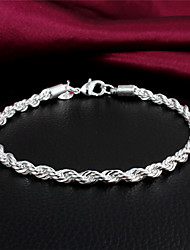 argento placcato casuale link / gioielli catena braccialetto bracciale braccialetto 2015 nuovo design più venduta