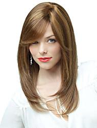 Capless High Quality Pretty Medium Straight Mix Color Hair Wig