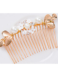 Women's Pearl Alloy Headpiece-Wedding Special Occasion Hair Combs 1 Piece