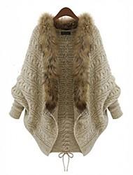 Sudaderas Con y Sin Capucha ( Algodón )- Casual Cuello alto Manga Larga para Mujer