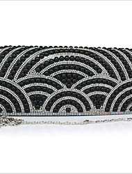 Women 's Polyester  Shiny Costly/Silk Flap Clutch/Evening Bag - Gold/Silver/Black