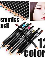 crayon professionnelle de 24 heures durable imperméable liquide coloré de eye-liner de 12 pcs