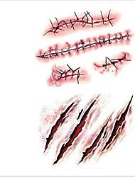 OEM - מדבקות קעקועים - Non Toxic/תבנית/גב תחתון/Waterproof - גברים/מבוגר/Boy/נוער - שחור - PVC - 10 - 19*12*0.5 - דפוס