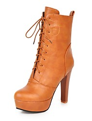 Women's Shoes Faux  Stiletto Heel Round Toe/Closed Toe Boots