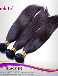 "3 Pcs Lot 12""-30"" Brazilian Silky Straight Wefts Natural Black Remy Human Hair Weave Tangle Free"