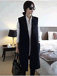 Women's Solid White/Black Vest Sleeveless