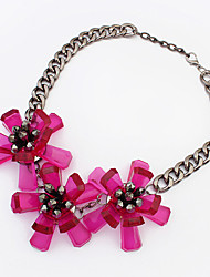 Fashion trend magazine in punk necklace personality