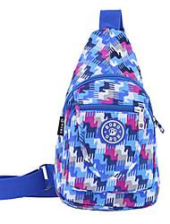saco de lona mensageiro do ombro dos homens - branco / azul / vermelho