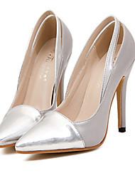 Calçados Femininos - Saltos - Saltos / Bico Fino - Salto Agulha - Cinza - Courino - Casual