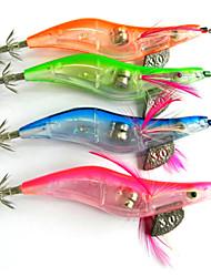 """4 pc Esche rigide Esca Esche rigide Gamberi / Gamberetto g/Oncia mm/4-1/4"""" pollice,Plastica dura Pesca di mare Pesca di acqua dolce"""