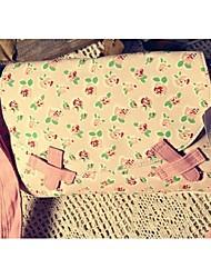 Women 's Canvas Sling Bag Shoulder Bag - Pink/Green