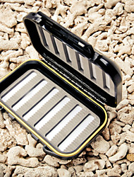 m&x espuma de fenda portátil à prova d'água dupla face enfrentar caixa de isca de pesca caixa de voar (13.5 * 8 * 4 centímetros)