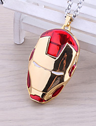 Unisex Fashion Jewelry Retro Animation Cosplay Iron Man Mask Pendant Necklace