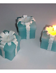 Mini Ribbon Gift Box Shaped Candles Party Favors (Random Color)