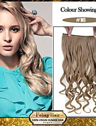 5 clips ondulado rubio dorado (# 16) pinza de pelo sintético en extensiones de cabello para damas más colores disponibles