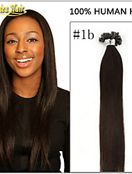 18-28 inch 1g/s 100g NAIL U TIP HAIR prebonded hair extensions Indian Human Remy Hair STOCK