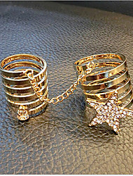 May Polly  European style fashion star diamond ring