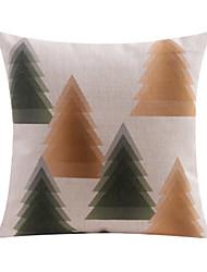 Pine Trees Pattern Cotton/Linen Decorative Pillow Cover