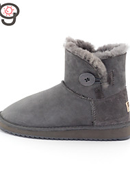 MO Twinface Sheepskin Autumn and Winter Snow Boots Warm Female Women's Shoes